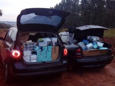 DOF apreende dois veículos com contrabando do Paraguai na MS-141