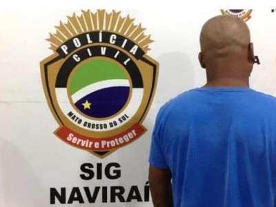 Em Naviraí, polícia prende homem que foi condenado por estuprar filha de 3 anos