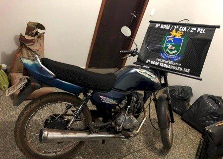 Moto furtada do pátio do Detran de Nova Andradina é recuperada em Taquarussu