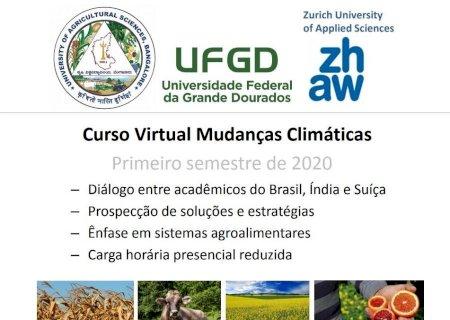 Parceria entre UFGD e universidades da Índia e da Suíça produz curso sobre mudanças climáticas