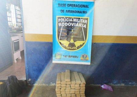 Dupla é presa com quase 60 kg de maconha em Ivinhema