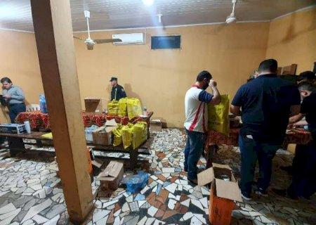 Dupla é presa com 1,2 milhão de reais em caixas de papelão na fronteira