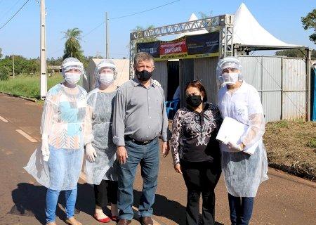 Barreira Sanitária fortalece prevenção de combate ao Covid-19 na entrada de Jateí