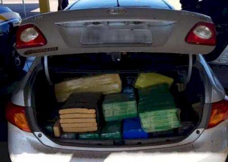 PRF apreende 1,6 tonelada de maconha em dois veículos na BR-267