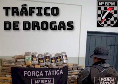 Em Deodápolis, Tático apreende mais de meia tonelada de maconha e 9 quilos de skank