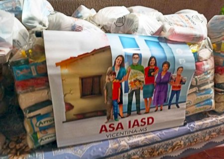 Adventistas do Sétimo Dia distribuem 3 toneladas de alimentos em Vicentina