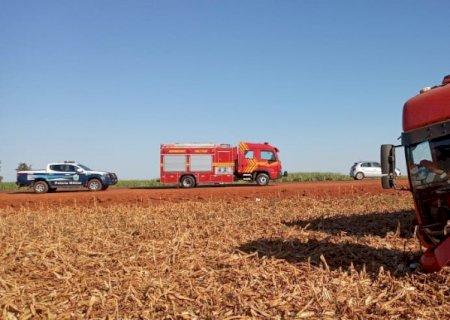 Motorista fica ferido após perder controle de carreta entre Lagoa Bonita e Dourados