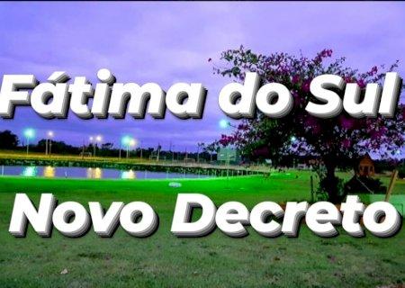 Em novo Decreto, futebol, parques, praças e clubes são liberados em Fátima do Sul