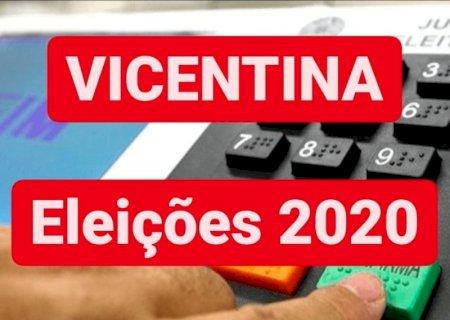 Confira os nomes dos 33 candidatos a vereadores e números de cada um em Vicentina