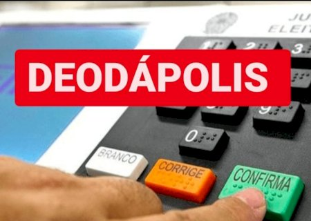 Confira os nomes dos 59 candidatos a vereadores e números de cada um em Deodápolis
