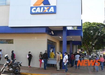 Caixa abre uma agência hoje em Dourados para pagamento de auxílios