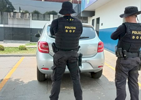Veículo furtado em SP é recuperado em Maracaju