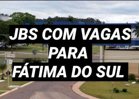JBS estará nesta sexta-feira em Fátima do Sul com vagas para trabalhar em Dourados
