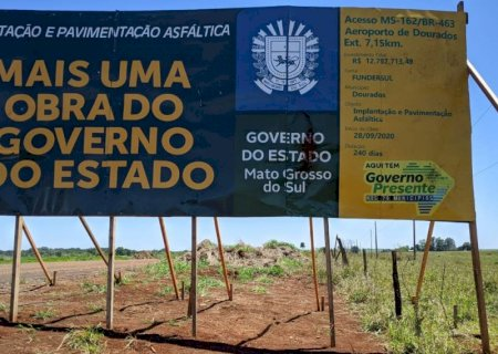 GOVERNO PRESENTE: Obra do acesso do Aeroporto à BR-463 contempla pedido de Barbosinha em Dourados