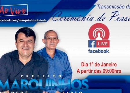Em Vicentina, Posse será restrita e prefeito informa que vai transmitir ao vivo pelo seu facebook