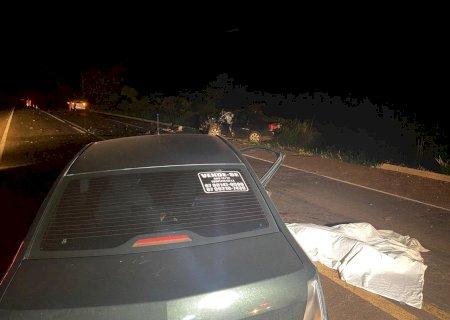 Em Nova Alvorada, acidente entre veículos na BR-267 deixa uma pessoas morta e três feridas