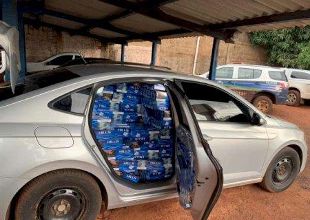 Assentamento Itamarati: Trio é preso com carros abarrotados de relógios, óculos e maços de cigarros