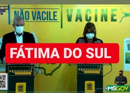 Fátima do Sul começa vacinar e boletim das últimas 24h tem 10 positivos, 01 é de Culturama
