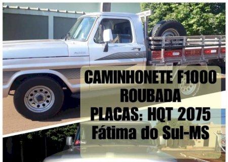 Caminhonete é furtada e donos pedem ajuda em Fátima do Sul