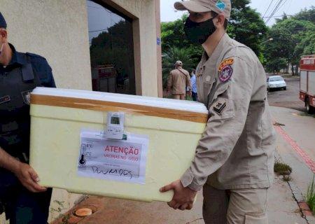 Dourados recebe primeiro lote da Coronavac e começa vacinação simbólica nesta manhã