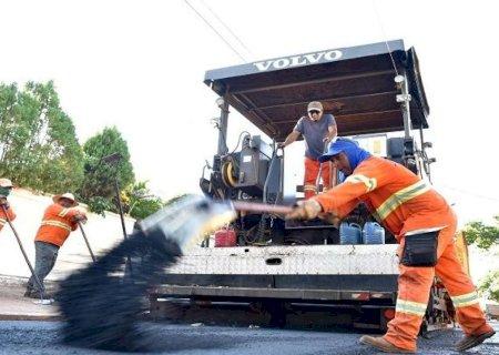 Governo do Estado avança com obras de recapeamento em Dourados