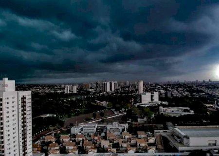 Alerta de tempestade é emitido para diversas regiões de MS nesta sexta