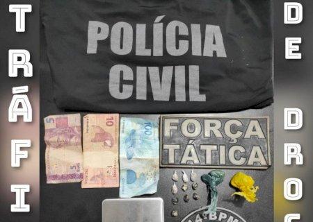 Polícia Civil e Força Tática prendem traficante em Deodápolis