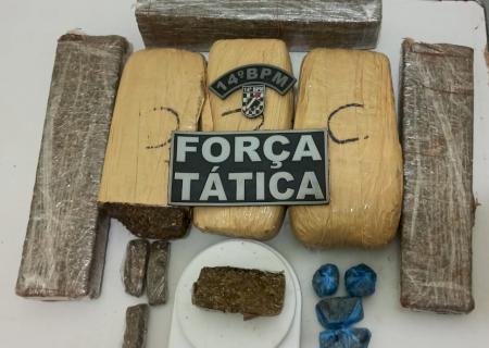 Policiais Militares da Força Tática apreendem dois traficantes em Fátima do Sul