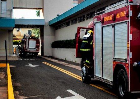 Incêndio que começou em chuveiro do centro cirúrgico é controlado por funcionários da Santa Casa