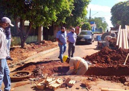 Jateí: Antes de ser 100% asfaltado, distrito de Nova Esperança recebe drenagem e ampliação da rede de esgoto