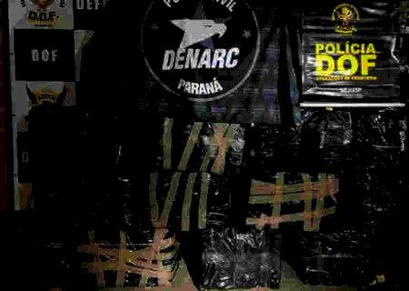 Procurados pela polícia do MS e PR, traficantes abandonam mais de 600 quilos de maconha na BR-163