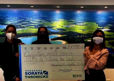 Senadora Soraya Thronicke destina R$ 200 mil para o Hospital da SIAS de Fátima do Sul
